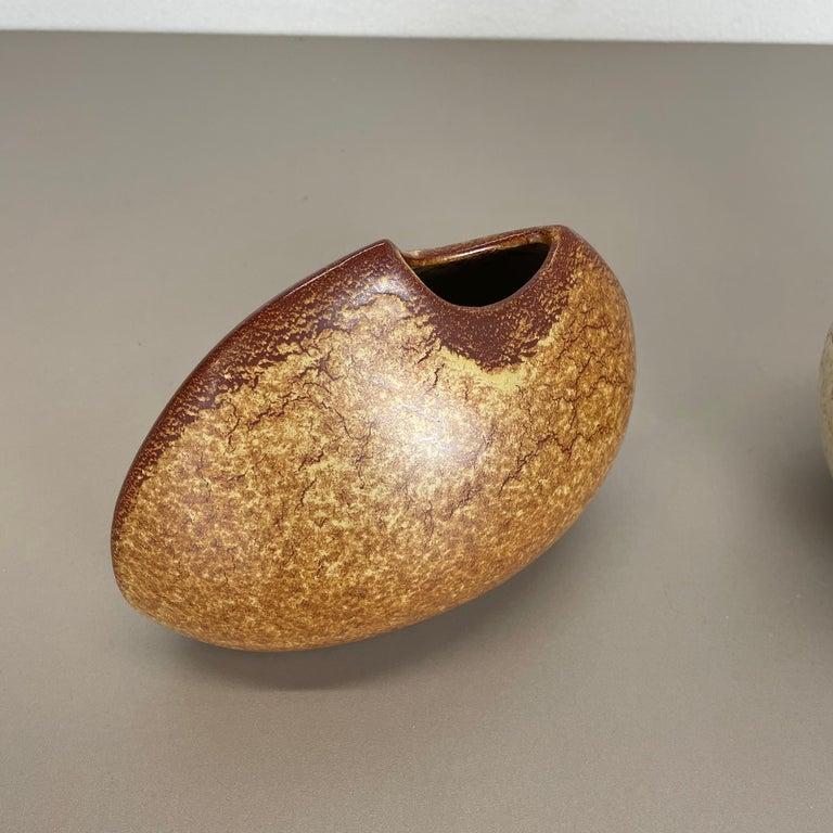 Set of 2 Ceramic Studio Pottery Vases by Bertoncello Ceramics, Italy 1970s In Good Condition For Sale In Kirchlengern, DE
