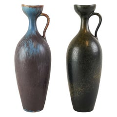 Set of 2 Ceramic Vases Gunnar Nylund Rörstrand Sweden 1950s