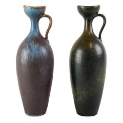 Set of 2 Ceramic Vases Gunnar Nylund Rörstrand, Sweden, 1950s