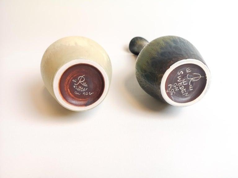 Set of 2 Ceramic Vases Rörstrand Gunnar Nylund, Sweden For Sale 4