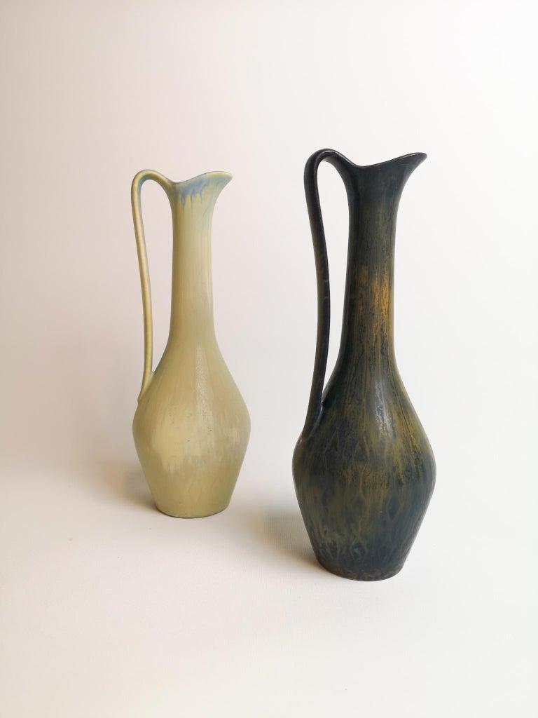 Mid-Century Modern Set of 2 Ceramic Vases Rörstrand Gunnar Nylund, Sweden For Sale