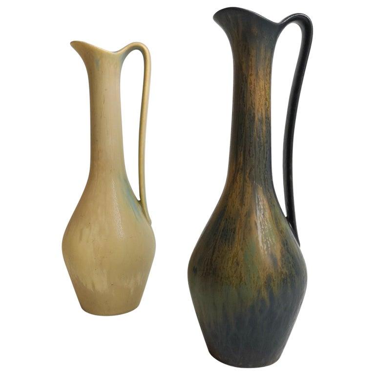 Set of 2 Ceramic Vases Rörstrand Gunnar Nylund, Sweden For Sale
