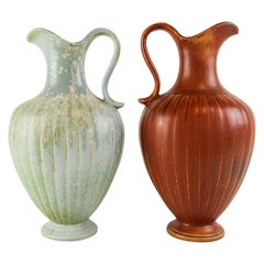 Set of 2 Ceramic Vases Rörstrand Gunnar Nylund, Sweden