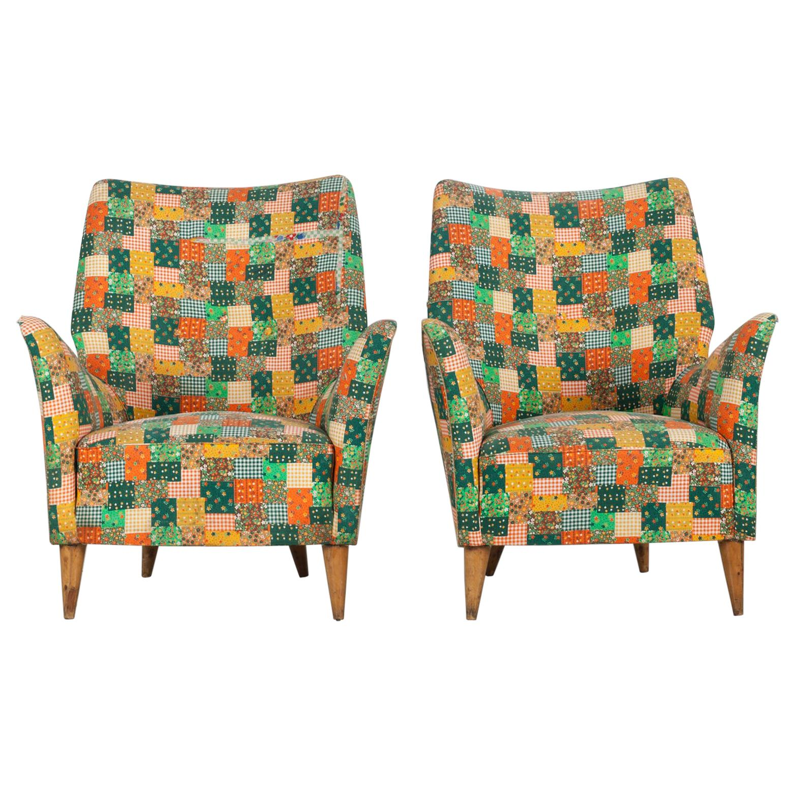 Set of 2 Chairs, I.S.A. Bergamo, 1950s