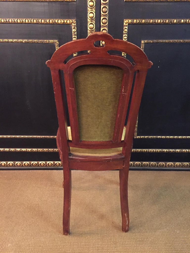 Set of 2 Chairs Mahogany, Late Biedermeier, circa 1860 For Sale 5
