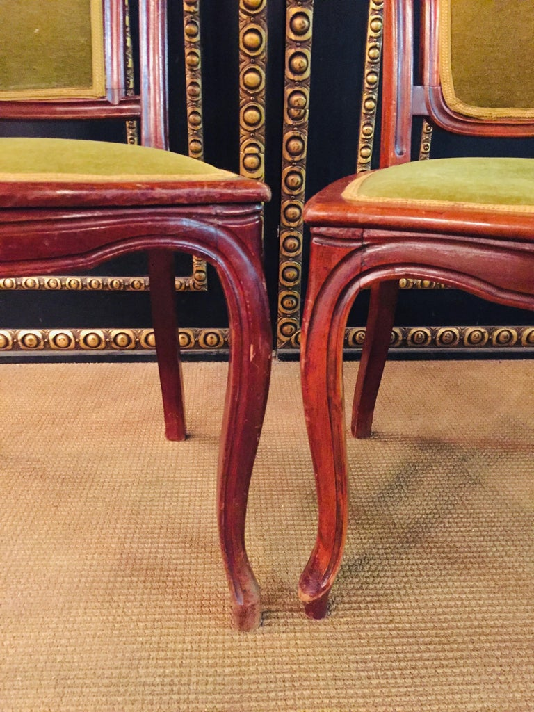Set of 2 Chairs Mahogany, Late Biedermeier, circa 1860 For Sale 8