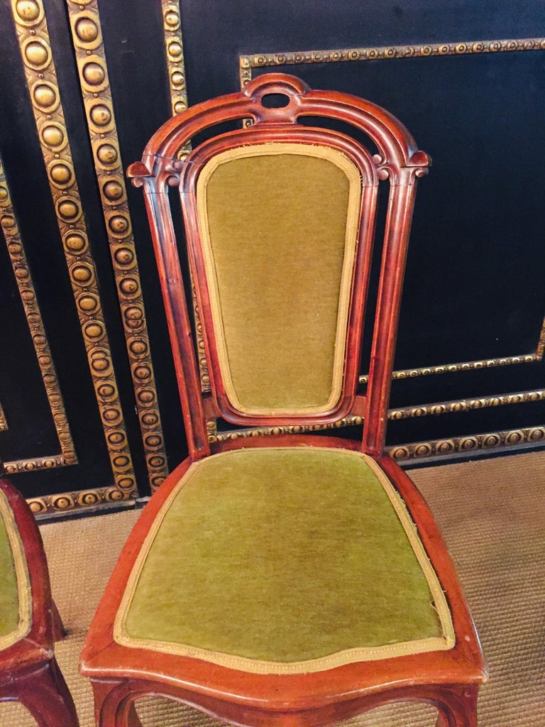 Set of 2 Chairs Mahogany, Late Biedermeier, circa 1860 For Sale 9