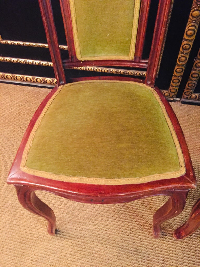 Set of 2 Chairs Mahogany, Late Biedermeier, circa 1860 For Sale 11