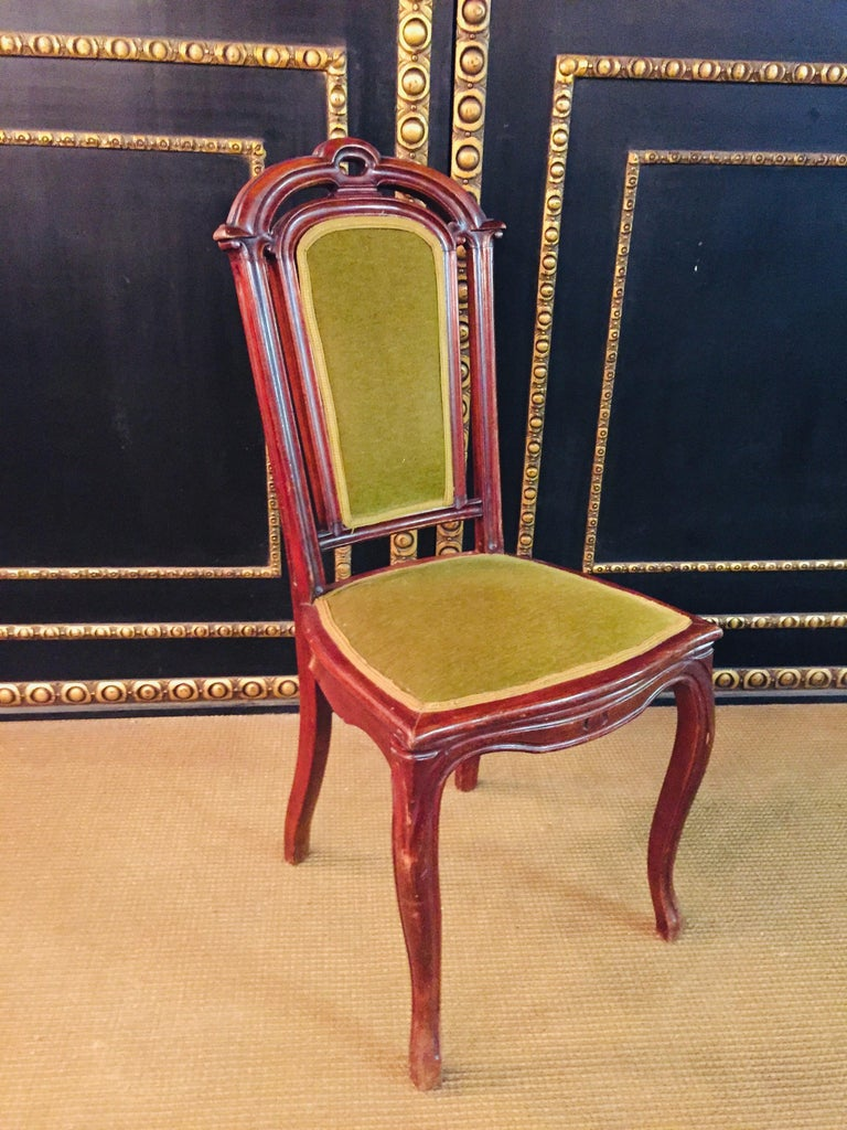 Set of 2 Chairs Mahogany, Late Biedermeier, circa 1860 For Sale 13