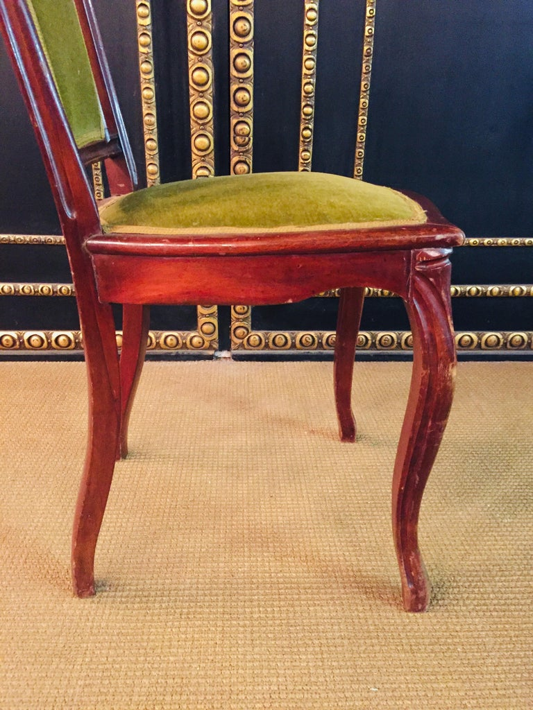 Set of 2 Chairs Mahogany, Late Biedermeier, circa 1860 For Sale 14