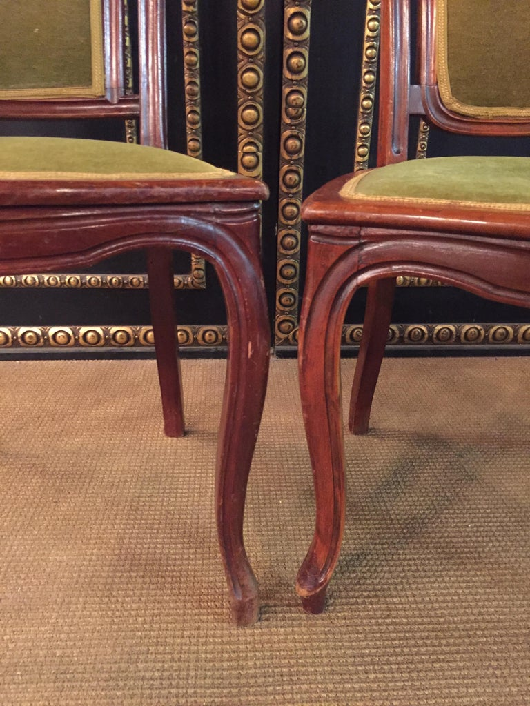 Set of 2 Chairs Mahogany, Late Biedermeier, circa 1860 In Good Condition For Sale In Berlin, DE