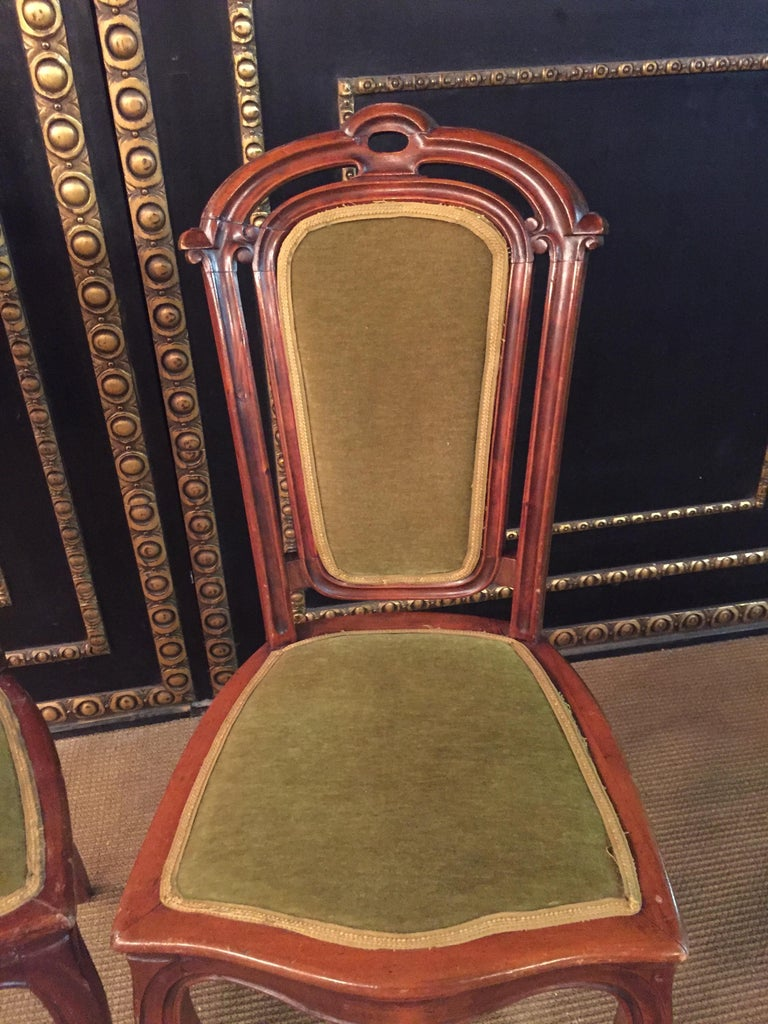 Set of 2 Chairs Mahogany, Late Biedermeier, circa 1860 For Sale 2