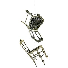 "Set of 2 ""Chaises Suspendues"" in Crystal by Geraldine Gonzalez"