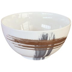 Set of 2 Chinese Soup Bowl Artisan Brush André Fu Living Tableware New