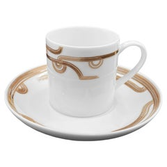 Set of 2 Coffee Cup with Saucer Art Déco Garden André Fu Living Tableware New