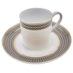 Set of 2 Coffee Cup with Saucer Modern Vintage André Fu Living Tableware New
