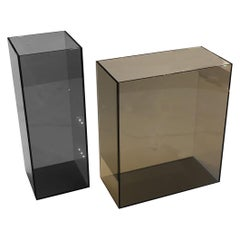 In Stock in Los Angeles, Set of 2 Contemporary Glass Vases, Made in Italy
