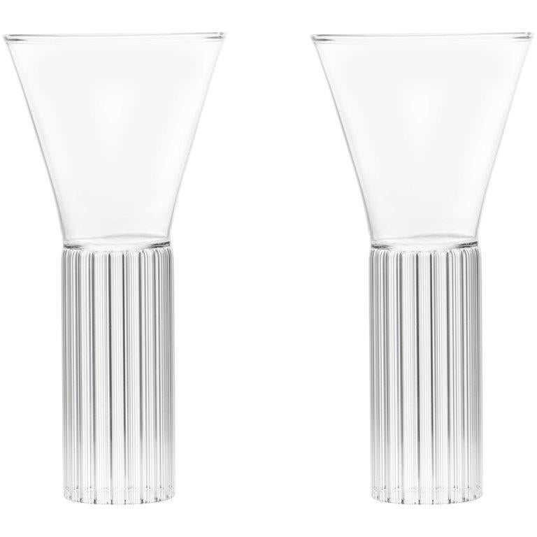 EU Clients Set of 2 Contemporary Sofia Medium Cocktail Wine Glasses in Stock For Sale