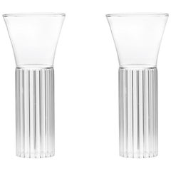 Set of 2 Czech Clear Contemporary Sofia Small Cocktail Wine Glasses in Stock EU