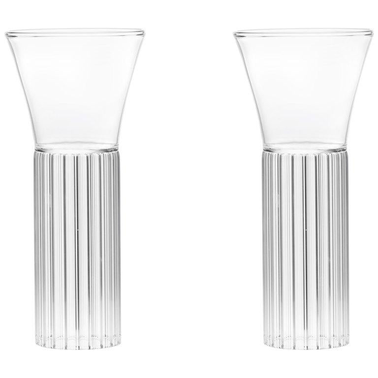 EU Clients Set of 2 Contemporary Sofia Small Cocktail Wine Glasses in Stock For Sale
