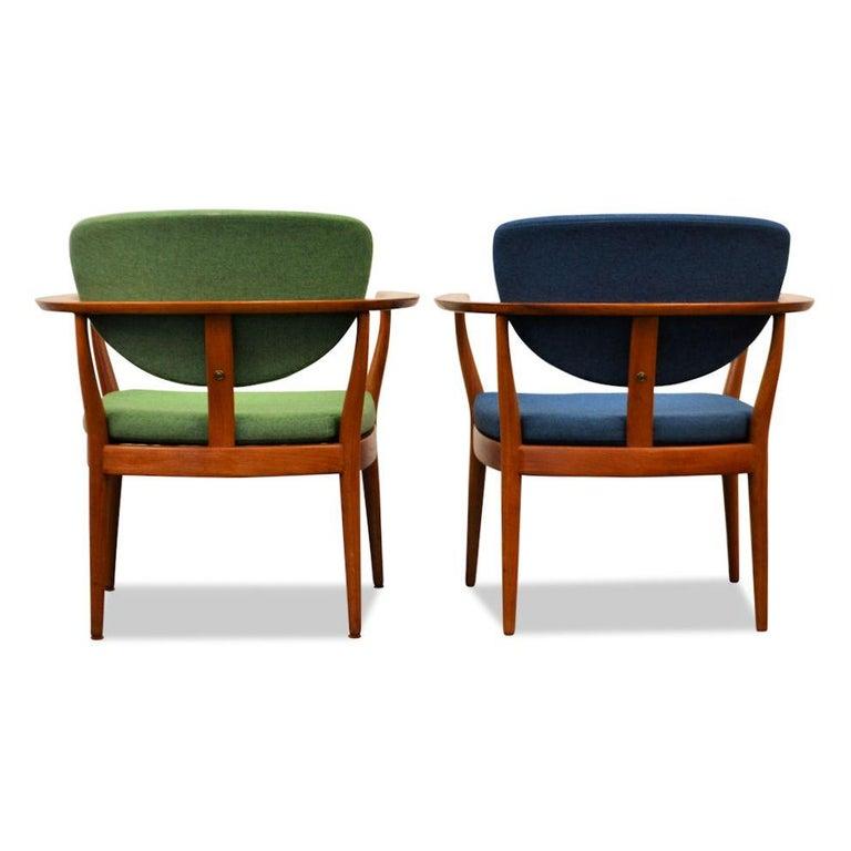Set of 2 Danish Design Finn Juhl Style Teak Chairs In Good Condition For Sale In Panningen, NL