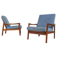Set of 2 Danish Modern Teak Lounge or Armchairs, Denmark, 1960s