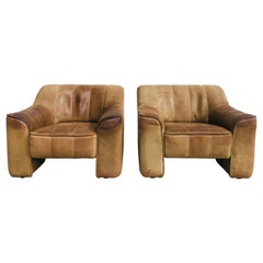 Set of 2 De Sede Ds-44 Lounge Chairs in Neck Leather by Desede, 1970s