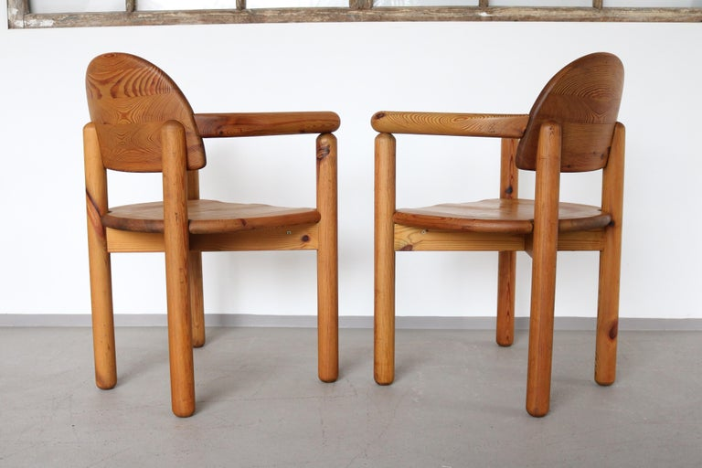 Swedish Set of 2 Dining Armchairs in Solid Pinewood by Rainer Daumiller for Hirtshals For Sale