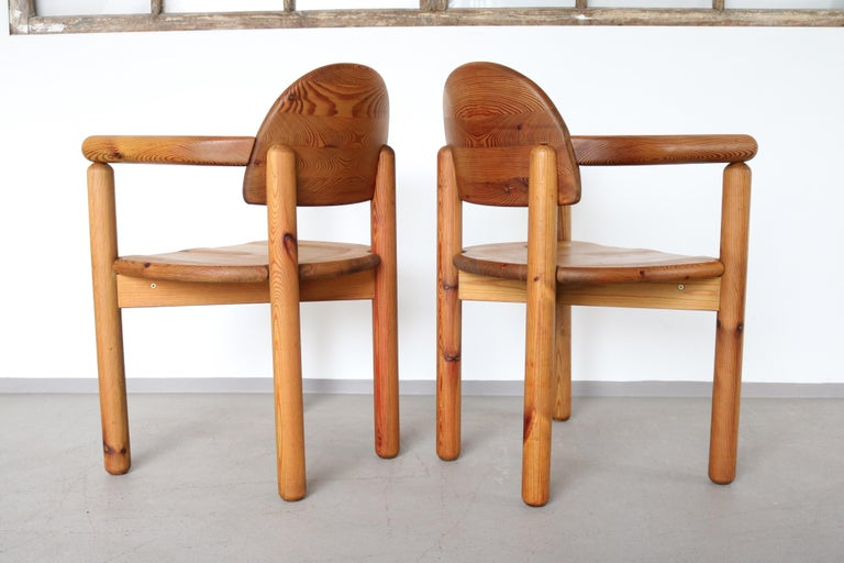 Set of 2 Dining Armchairs in Solid Pinewood by Rainer Daumiller for Hirtshals In Good Condition For Sale In Nürnberg, DE
