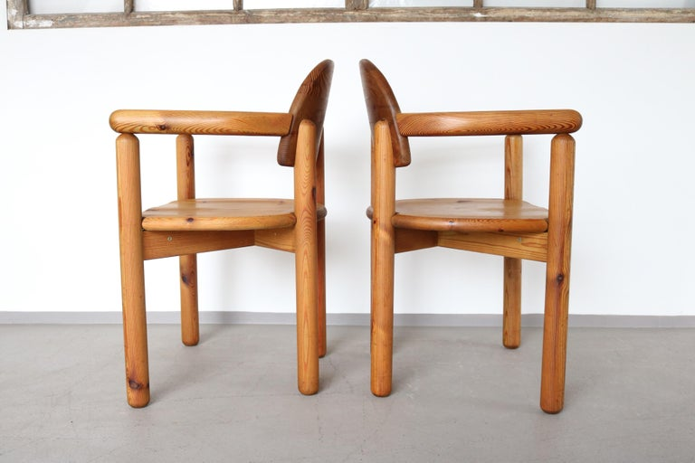 Late 20th Century Set of 2 Dining Armchairs in Solid Pinewood by Rainer Daumiller for Hirtshals For Sale