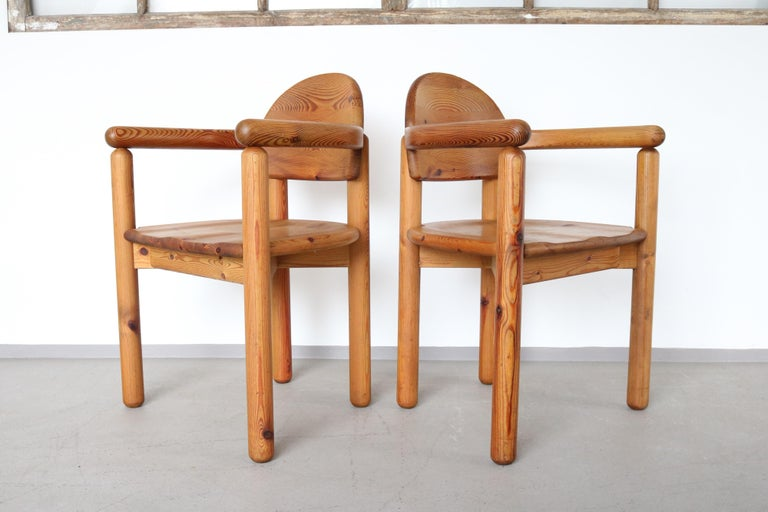 Set of 2 Dining Armchairs in Solid Pinewood by Rainer Daumiller for Hirtshals For Sale 1