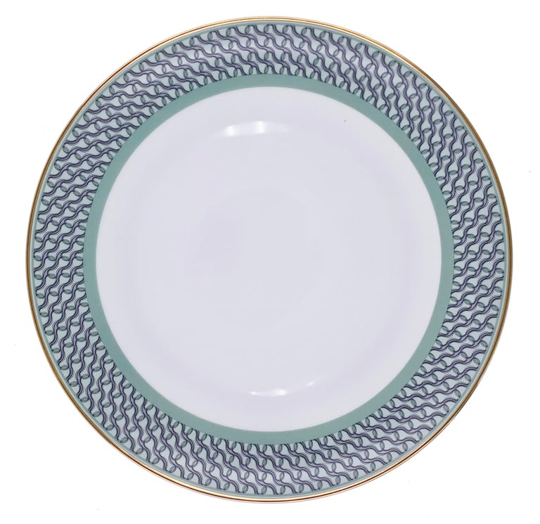 Modern Set of 2 Dinner Plate Ring Mid Century Rhythm André Fu Living Tableware New For Sale