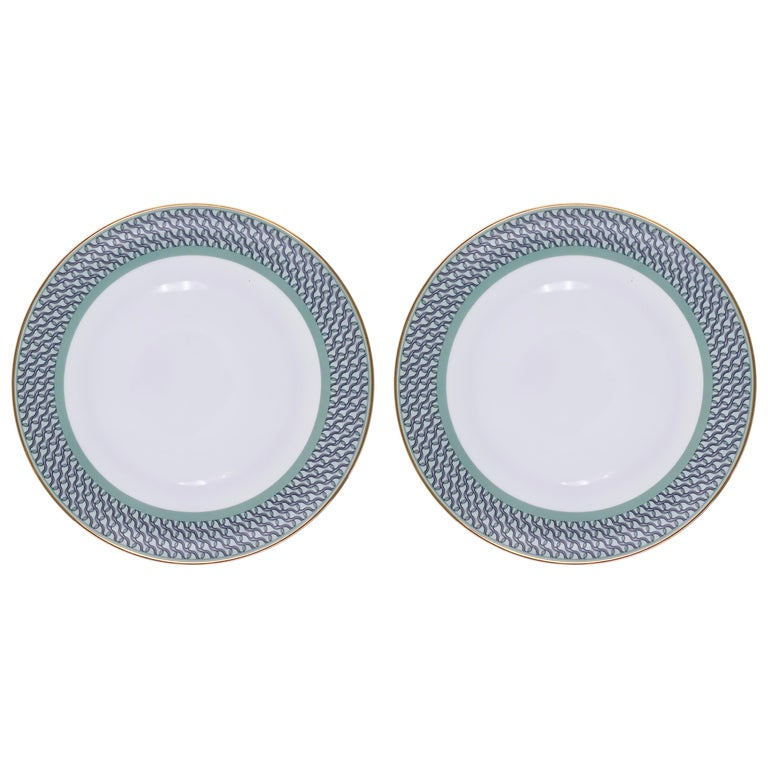 Set of 2 Dinner Plate Ring Mid Century Rhythm André Fu Living Tableware New For Sale