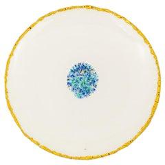 Set of 2 Dinner Plates Gold Hand Painted Coralla Maiuri Modern New