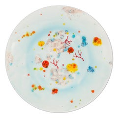 Set of 2 Dinner Plates Hand Painted Coralla Maiuri Modern New Tableware