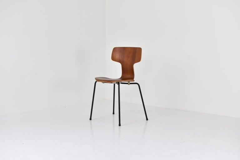 Danish Set of 2 Early 'Hammer' Chairs by Arne Jacobsen for Fritz Hansen, Denmark 1960's For Sale