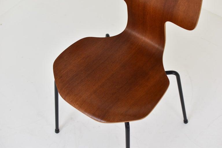Teak Set of 2 Early 'Hammer' Chairs by Arne Jacobsen for Fritz Hansen, Denmark 1960's For Sale
