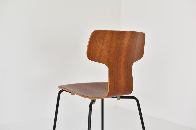 Set of 2 Early 'Hammer' Chairs by Arne Jacobsen for Fritz Hansen, Denmark 1960's For Sale 1