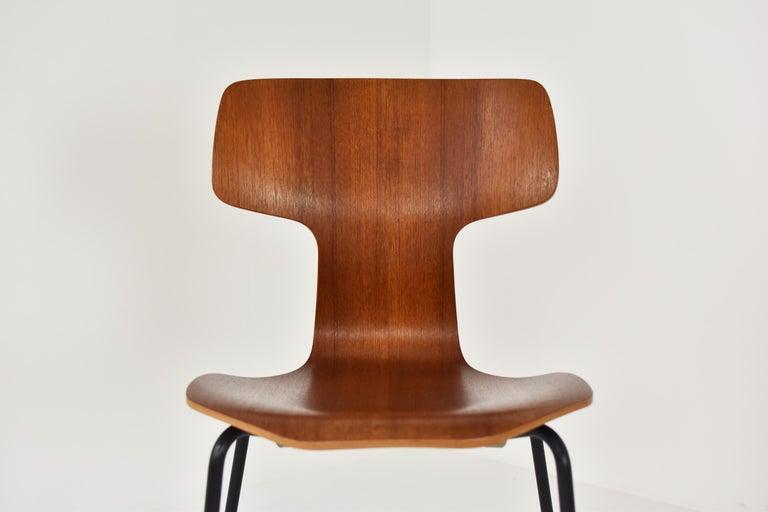 Set of 2 Early 'Hammer' Chairs by Arne Jacobsen for Fritz Hansen, Denmark 1960's For Sale 2