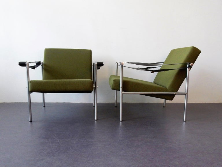 Mid-Century Modern Set of 2 Easy Chairs by Martin Visser for 'T Spectrum, 1960s For Sale