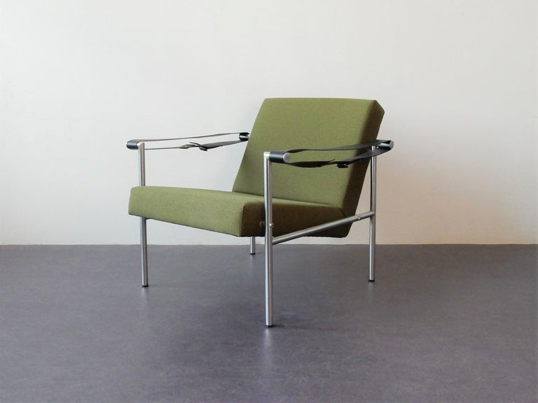 Metal Set of 2 Easy Chairs by Martin Visser for 'T Spectrum, 1960s For Sale