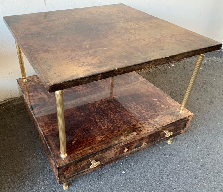Set of 2 End or Coffee Tables by Aldo Tura For Sale 5