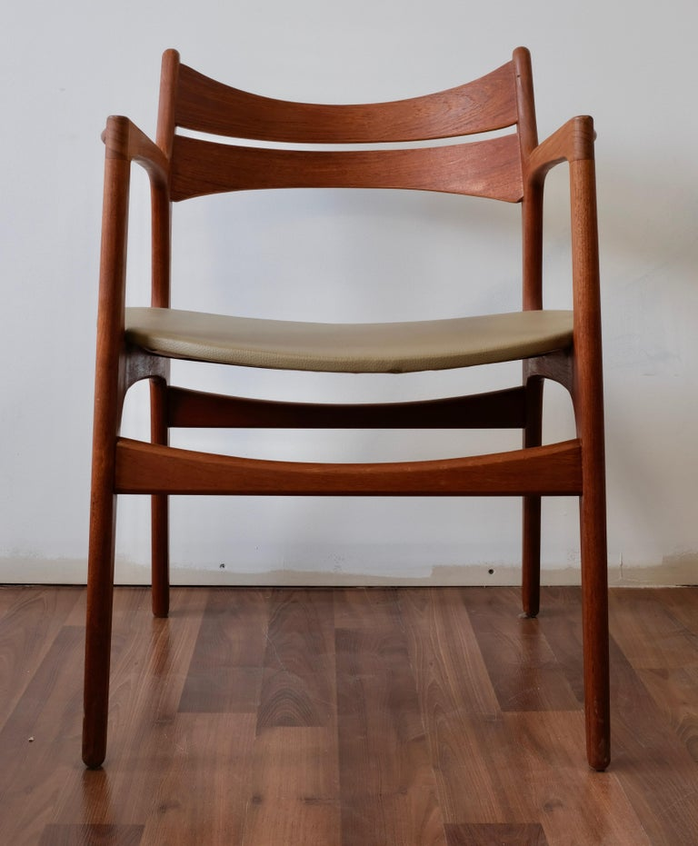 Set of 2 Erik Buch Teak Armchairs In Excellent Condition For Sale In Ogdensburg, NY