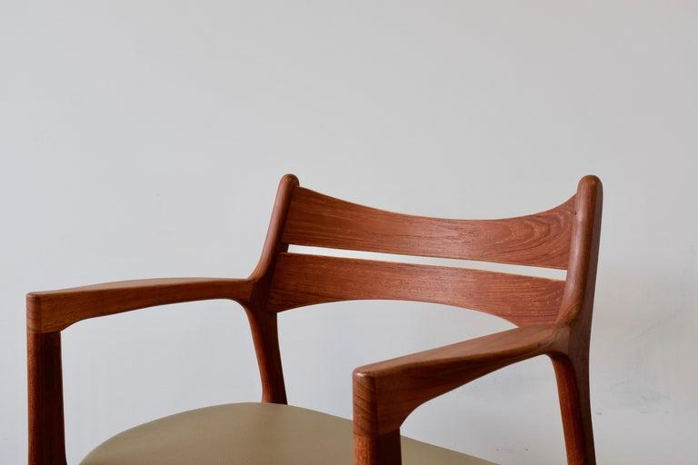 Mid-20th Century Set of 2 Erik Buch Teak Armchairs For Sale