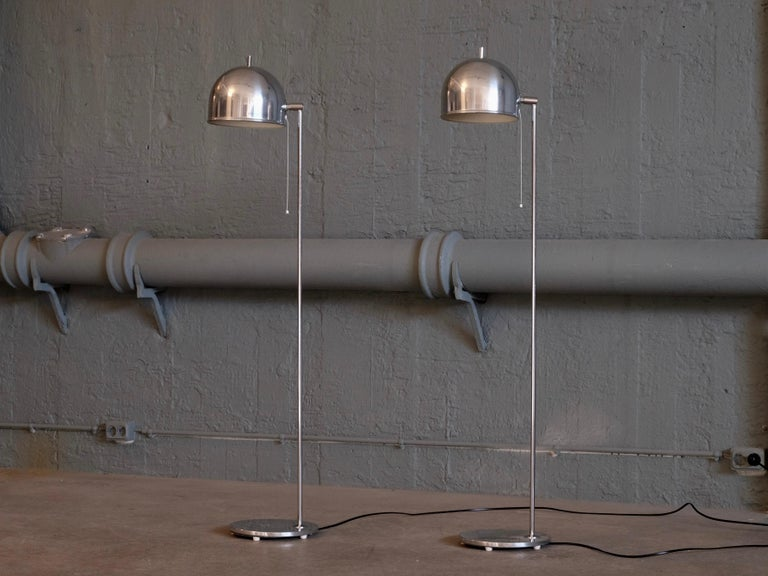 Pair of Floor Lamps Model G-075 by Bergboms, Sweden, 1960s For Sale 1