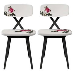 Set of 2 Flower Dining Chair, Nika Zupanc, Made in Italy in Stock in Los Angeles