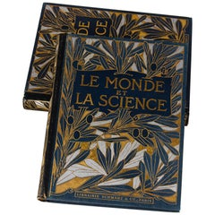 Set of 2 French Books, Le Monde et La Science, France, Early 1900s