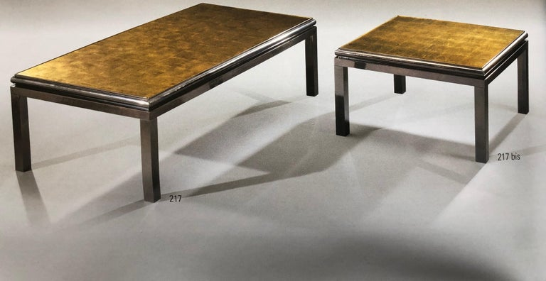 Mobile Coffee Table.Set Of 2 French Verre Eglomisse Coffee Tables By Guy Lefevre For Maison Jansen