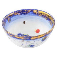 Set of 2 Fruit Bowls Gold Handpainted Ø13x5Hcm Coralla Maiuri Modern New