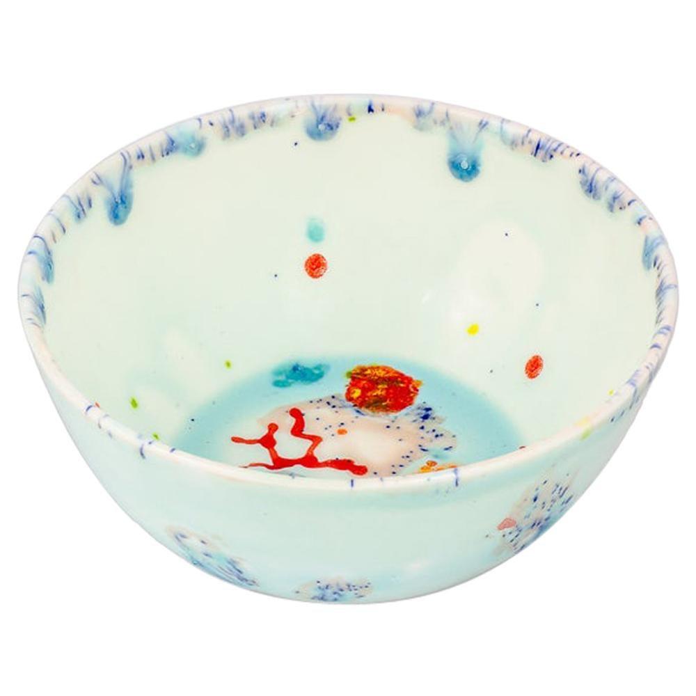 Set of 2 Fruit Bowls Handpainted Coralla Maiuri Modern New Tableware